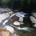 Waterfall waterslide at Circle Current.- Bristol (Bartlett) Falls + Circle Current Swimming Hole