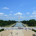 The Washington Monument and Reflecting Pool from the steps of the Lincoln Memorial.- National Mall + Memorial Parks