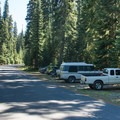 The parking area for Yoran Lake Trail is just past the entrance to Trapper Creek Campground.- Yoran Lake Trail