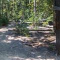 The marked junction to Yoran Lake.- Yoran Lake Trail