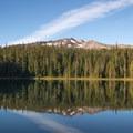 Diamond Peak from Yoran Lake.- Yoran Lake Trail