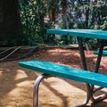 Benches are scattered through out the garden.- Amir's Garden, Griffith Park