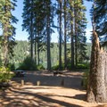 A campsite along Odell Lake at Trapper Creek Campground.- Trapper Creek Campground