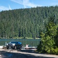 The Odell Lake boat launch at Trapper Creek Campground.- Trapper Creek Campground