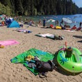 Beach toys.- White Pine Beach, Sasamat Lake
