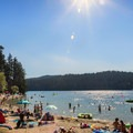 A nice day to hang out at the beach.- White Pine Beach, Sasamat Lake