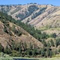 The Lower Salmon River in the mountains of Idaho.- Lower Main Salmon River: Pine Bar to Heller Bar