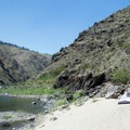 White, sandy beaches along the Lower Salmon River are perfect campsites.- Lower Main Salmon River: Pine Bar to Heller Bar
