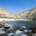 Large, sandy beach along the Lower Salmon River.- Lower Main Salmon River: Pine Bar to Heller Bar