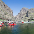 Rafts heading down some rapids on the Lower Salmon River. - Lower Main Salmon River: Pine Bar to Heller Bar