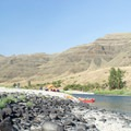 Campsite along the Lower Salmon River.- Lower Main Salmon River: Pine Bar to Heller Bar