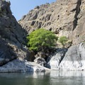 Small waterfall flowing into the Snake River.- Lower Main Salmon River: Pine Bar to Heller Bar