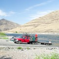 The boat ramp at Heller Bar on the Snake River.- Lower Main Salmon River: Pine Bar to Heller Bar