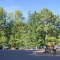 Parking area for Hardesty Mountain trails.- Goodman Creek Trail