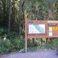 Trailhead and information for Hardesty Mountain trails. - Goodman Creek Trail