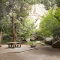 Large granite boulders surrounding one of the day use sites.- Endovalley Day Use Area