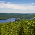 Great views from an intermediate viewpoint.- Bald Mountain + Rondaxe Fire Tower