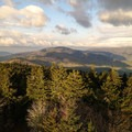 Dawn from the fire tower.- Mount Sterling via Big Creek Loop