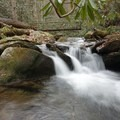 Small rapids along the trail.- Thunderhead Mountain + Rocky Top