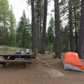 Typical site in Luther Campground.- Luther Campground