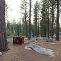 Campsites here are well separated for the most part.- Luther Campground