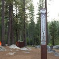 This campground is technically dispersed, but cars can park close to most sites.- Luther Campground