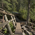 Another footbridge over Pine Creek.- Pine Creek Lake