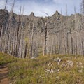Burnt Forest from the Pine Creek Blaze in 2012.- Pine Creek Lake