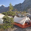 Several backcountry spots near Pine Creek Lake are available for overnighters.- Pine Creek Lake