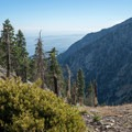 The last set of switchbacks before the summit.- Cucamonga Peak