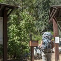 Everyone needs to register at the trailhead.- Cucamonga Peak