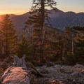 Sunrise view from the campsite.- Cucamonga Peak