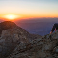 Enjoying the sunrise on Cucamonga Peak.- Cucamonga Peak