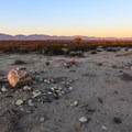 Signs of past human habitation.- Alpine Butte Wildlife Sanctuary