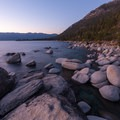 Looking north just after sunset.- Bonsai Rock