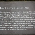 Interpretive sign along the Forest Trail at Mount Vernon.- George Washington's Mount Vernon