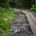 Boardwalks along the way to Porter.- Cascade + Porter Mountains