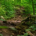 The trail climbs steeply in places- Echo Cliffs