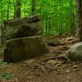 Unique rocks occasionally dot the trail- Echo Cliffs