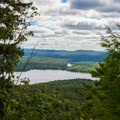 A first glimpse of Piseco Lake- Echo Cliffs