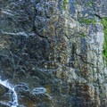 Beautiful textured walls in the box canyon.- Rainbow Falls on the Adirondack Mountain Reserve