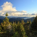 View to the south from the summit.- Bachelor Mountain