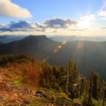 Contributor Daniel Sherman takes in the view from the south summit ridge.- Bachelor Mountain