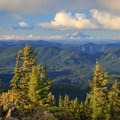Mount Hood can be seen to the north.- Bachelor Mountain