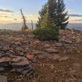 Remnants of an old lookout station.- Bachelor Mountain