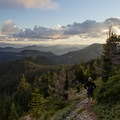 Descending off of the summit.- Bachelor Mountain