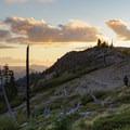 Warm sunset colors.- Bachelor Mountain