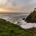 The ocean viewed from Cape Disappointment Light.- Lewis and Clark Discovery Trail