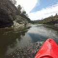 Paddling though the calm waters before Lost Hat and Satan's Cesspool.- South Fork of the American River: The Gorge, Greenwood to Salmon Falls Bridge