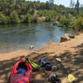 Getting ready to pack gear.- South Fork of the American River: The Gorge, Greenwood to Salmon Falls Bridge